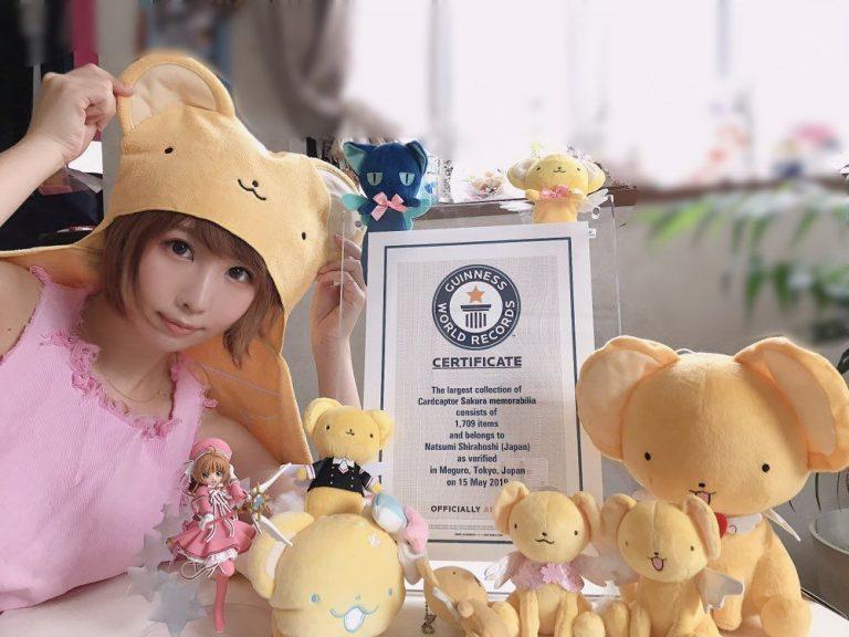 Una cosplayer japonesa rompe el Record Guinness por la mayor colección de artículos de Sakura Cardcaptor