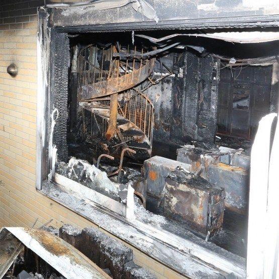 Fotos del estado actual del estudio de Kyoto Animation después del fuego
