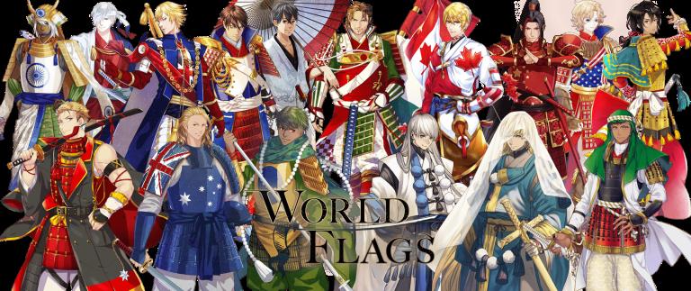 Artistas japoneses convierten distintas banderas del mundo en samurais.