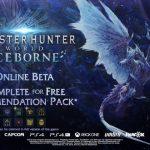 Anunciadas las fechas de las sesiones beta de Monster Hunter World: Iceborne