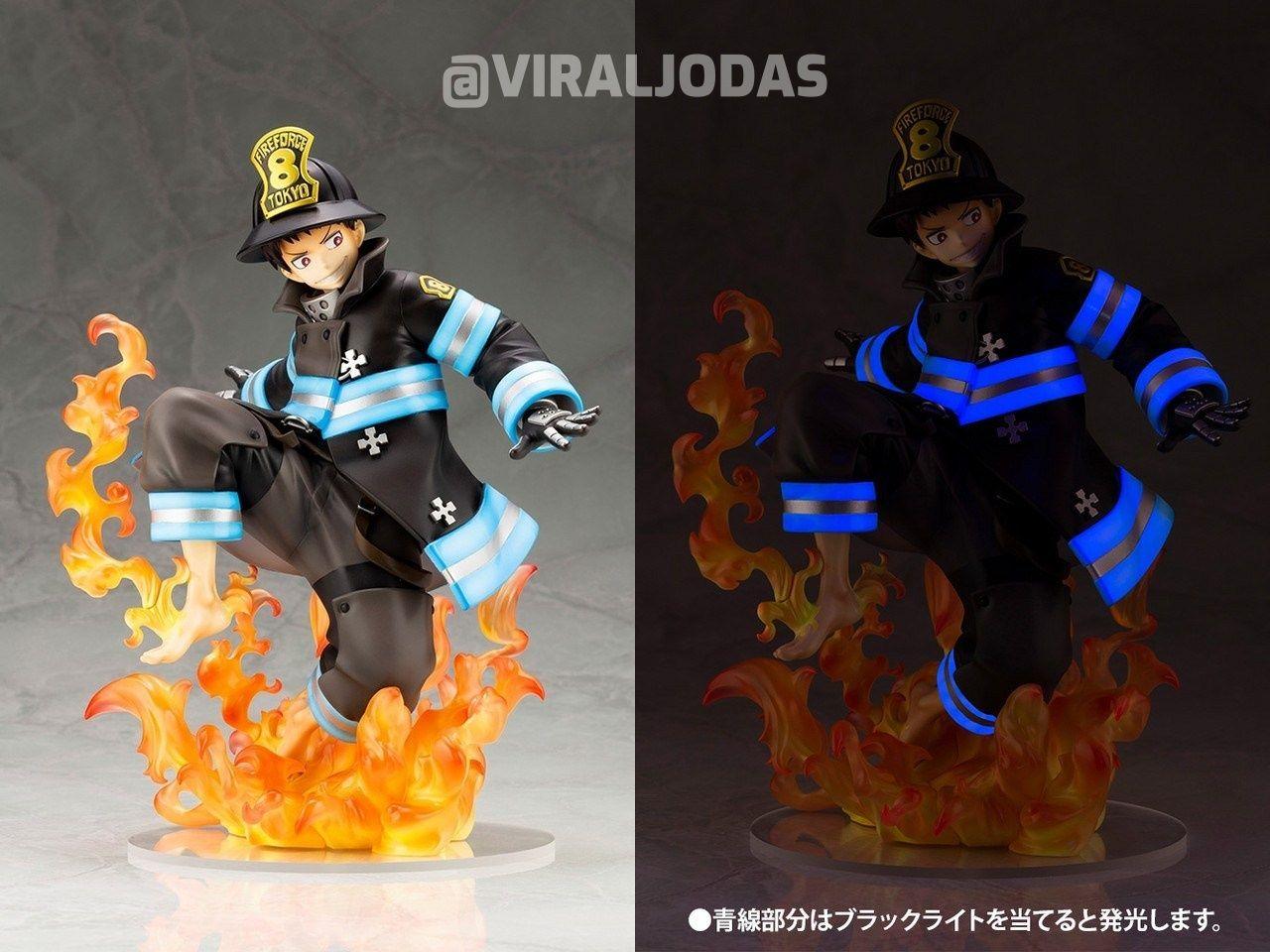 Lanzan una figura de Fire Force que brilla en la oscuridad