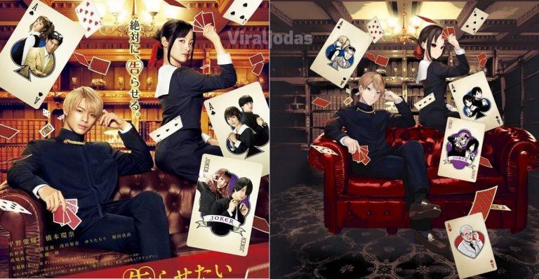 El autor de Kaguya-sama dibuja una ilustración basándose en el póster del Live Action