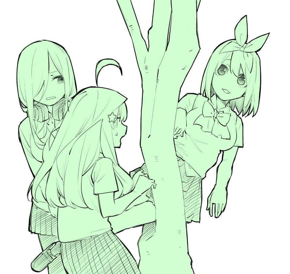 La nueva ilustración de Go-Toubun no Hanayome recrea una escena real con guepardos