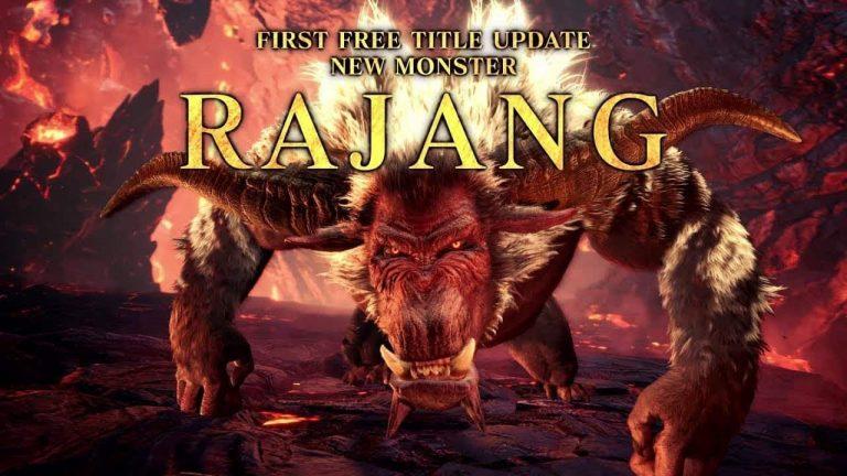 El Rajang llegará a Monster Hunter World: Iceborne a través de la primera actualización gratuita